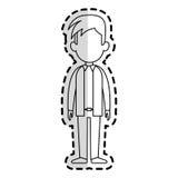 Faceless man cartoon icon image. Faceless man with youthful haircut cartoon icon image  illustration design  sticker Stock Photos