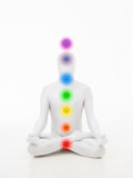 Faceless man chakra graphics Stock Images