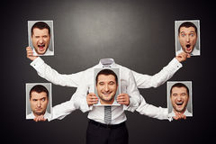 Faceless man choosing mood Stock Photo