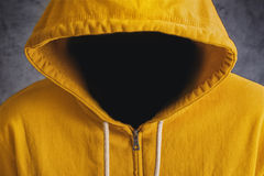 Faceless Man with Hodded Jacket Royalty Free Stock Image