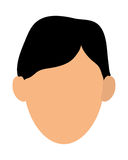faceless man portrait icon Royalty Free Stock Image