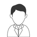 Faceless man wearing suit portrait icon. Simple flat design faceless man wearing suit portrait icon  illustration Stock Photos