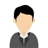 Faceless man wearing suit portrait icon. Simple flat design faceless man wearing suit portrait icon  illustration Stock Photo