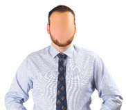 Faceless man. On white background royalty free stock photo