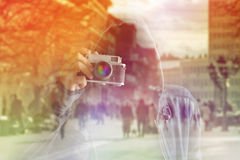 Faceless Paparazzi Photographer Stock Photography