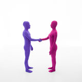 Faceless people shake hands Royalty Free Stock Photos