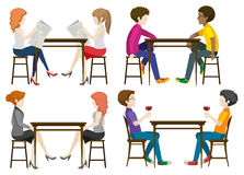 Faceless people at the table Royalty Free Stock Photo