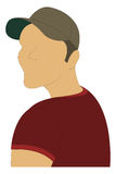 Faceless Portrait. Faceless casual self portrait with hat and T-shirt Vector Illustration