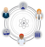 Faceless scientists Stock Images