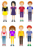 Faceless teenagers Royalty Free Stock Images