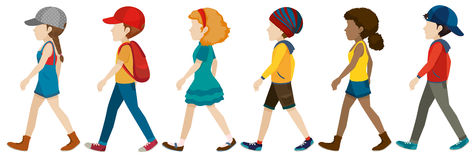 Faceless teenagers walking Stock Image