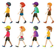 Faceless teenagers walking Stock Photography