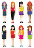 Faceless templates of fashionable women Stock Image