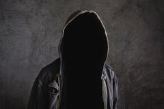 Faceless unrecognizable man without identity Royalty Free Stock Photo