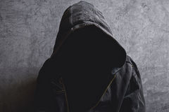 Faceless unrecognizable man without identity stock photo