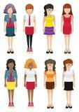 Faceless women template Stock Photo