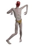 Faceless Zombie. Undead zombie with missing face, 3d digitally rendered illustration Royalty Free Stock Photography