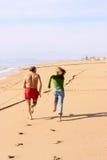 Facendo concorrenza alla spiaggia Fotografia Stock