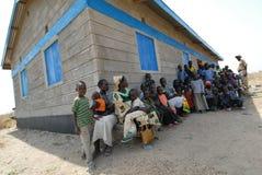 Facendo la coda per l'immunizzazione Fotografia Stock Libera da Diritti
