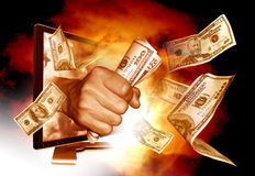 Facendo soldi dal Internet Fotografia Stock