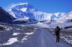 Facendo un'escursione al BC di Everest Fotografie Stock Libere da Diritti