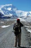 Facendo un'escursione al Everest fotografie stock libere da diritti