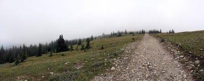 Facendo un'escursione alla cima Fotografia Stock