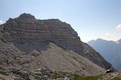Facendo un'escursione alle alpi albanesi Fotografie Stock
