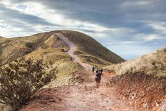 Facendo un'escursione in Costa Rica immagini stock