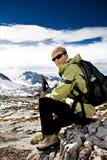 Facendo un'escursione in dolomia Fotografia Stock Libera da Diritti