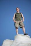 Facendo un'escursione in Grecia bianca e blu. Immagini Stock Libere da Diritti