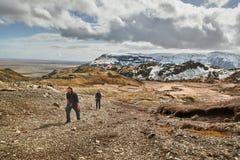 Facendo un'escursione in Islanda fotografia stock