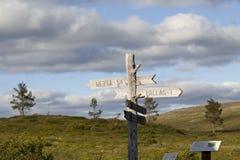 Facendo un'escursione in Lapponia Fotografia Stock Libera da Diritti