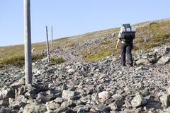 Facendo un'escursione in Lapponia Fotografie Stock Libere da Diritti