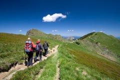 Facendo un'escursione in Mala Fatra, la Slovacchia Fotografia Stock
