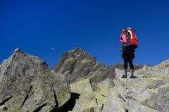 Facendo un'escursione in montagne di Tatra Immagine Stock
