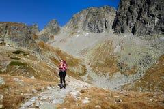 Facendo un'escursione in montagne di Tatra Fotografia Stock