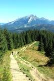 Facendo un'escursione in montagne di Tatra Fotografie Stock