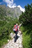 Facendo un'escursione in montagne di Tatra Immagini Stock Libere da Diritti