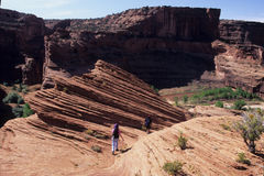 Facendo un'escursione nei canyon dell'Arizona Fotografie Stock Libere da Diritti