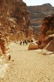 Facendo un'escursione nel canyon variopinto Immagini Stock Libere da Diritti
