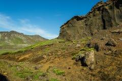 Facendo un'escursione nel paese geotermico Immagine Stock Libera da Diritti