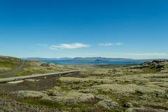 Facendo un'escursione nel paese geotermico Fotografia Stock Libera da Diritti