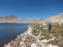 Facendo un'escursione nel parco nazionale di re Canyon Immagini Stock Libere da Diritti
