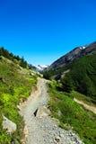 Facendo un'escursione nel parco nazionale di Torres del Paine, il Cile Fotografie Stock Libere da Diritti