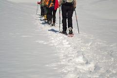Facendo un'escursione nell'inverno Fotografia Stock Libera da Diritti