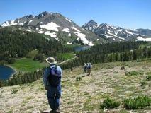 Facendo un'escursione nella sierra Nevadas Fotografia Stock Libera da Diritti