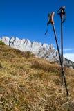 Facendo un'escursione nelle alpi austriache Fotografie Stock Libere da Diritti