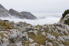 Facendo un'escursione nelle alpi austriache Immagine Stock Libera da Diritti