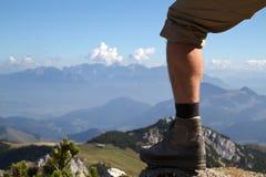 Facendo un'escursione nelle alpi bavaresi, la Germania Fotografie Stock Libere da Diritti